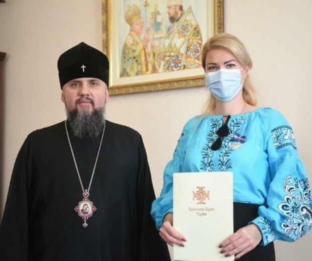 Епіфаній нагородив орденом скандалістку Наталію Баласинович