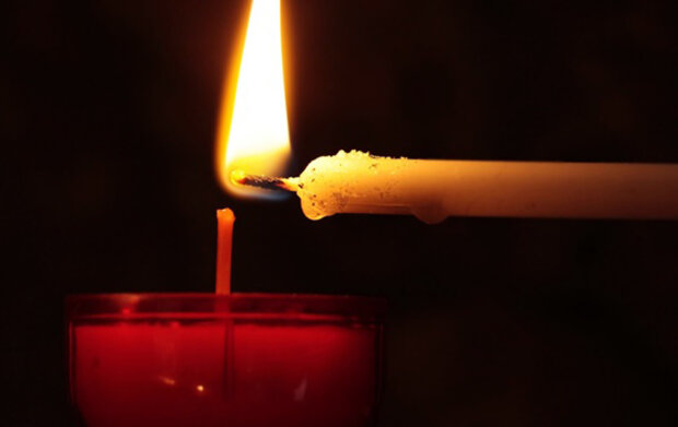 траур, свічка, поминки, втрата