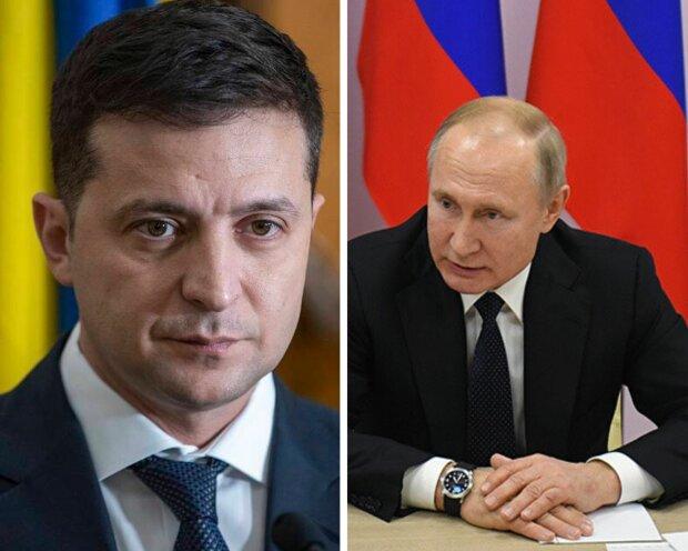 Володимир Путін та Володимир Зеленський