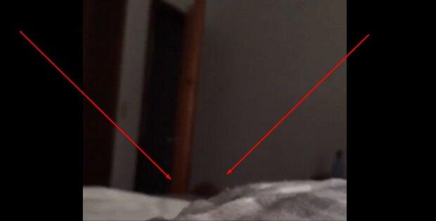 Вагітна дівчина розгледіла на відео чиюсь темну голову у своєму ліжку