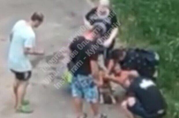 Покидьок у Києві натравив бійцівського пса на перехожих