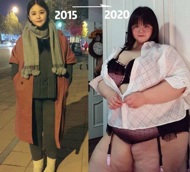 Дівчина погладшала до неймовірних розмірів