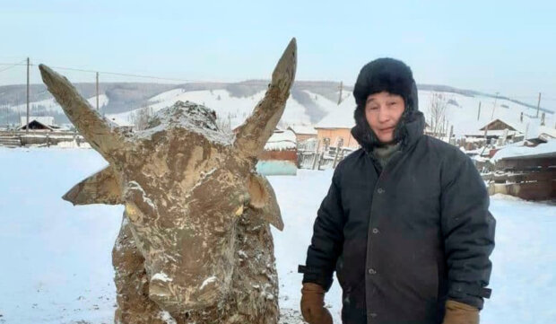 Російський умілець зліпив бика з гною: символ 2021 року
