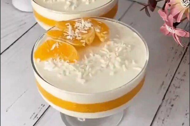 Мандариновий десерт, скріншот з відео