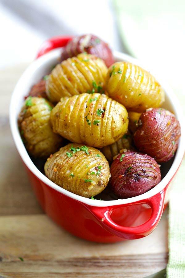 Смажена картопля з часником