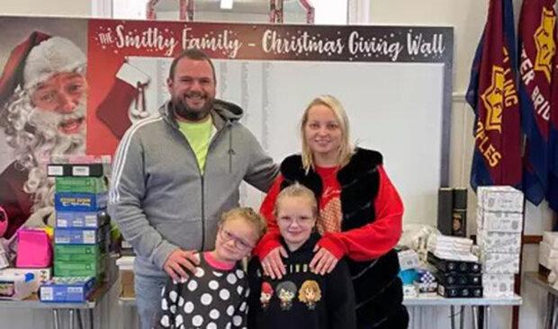 Сім'я вирішила влаштувати справжнє різдвяне диво для нужденних малюків
