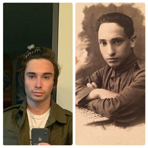 Хлопець знайшов фото свого прадідуся