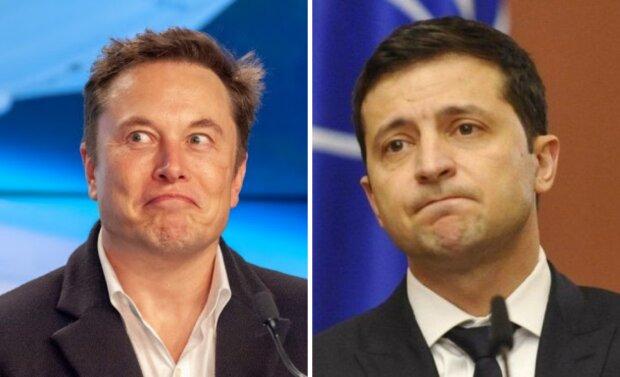 Ілон Маск і Володимир Зеленський
