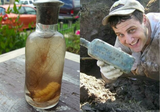 Хлопець знайшов 200-річну пляшку з людськими зубами і волоссям