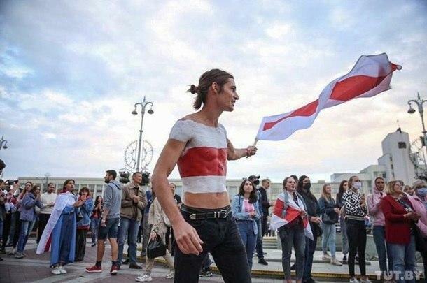 Протестувальники в Мінську