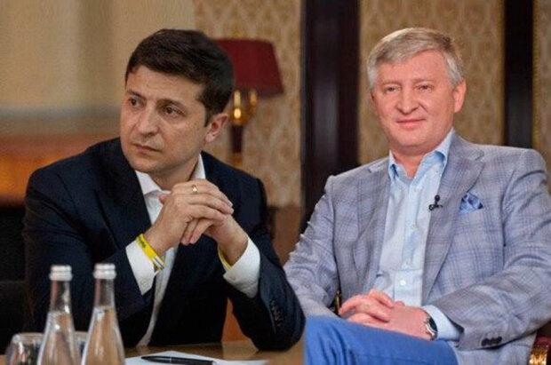 Володимир Зеленський та Ринат Ахметов