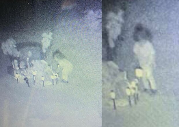 Камера засняла, як дівчинка блукає серед могил по кладовищу
