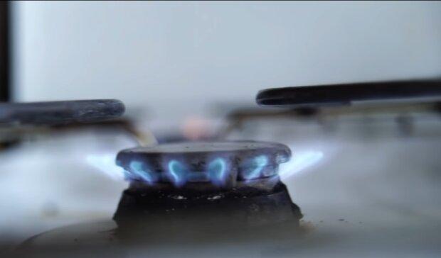 Газова конфорка, скріншот з відео
