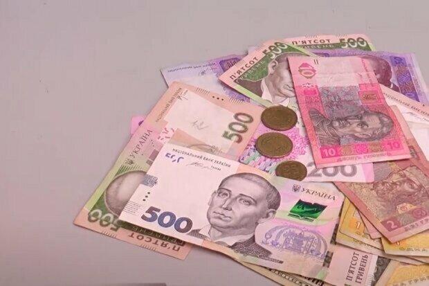 Українські гроші. Фото: скріншот відео.