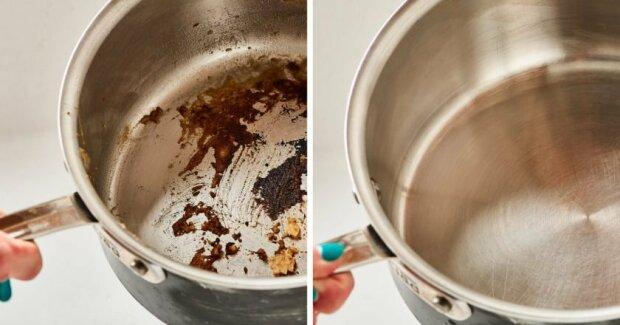 Як вичистити безнадійно пригорілий посуд