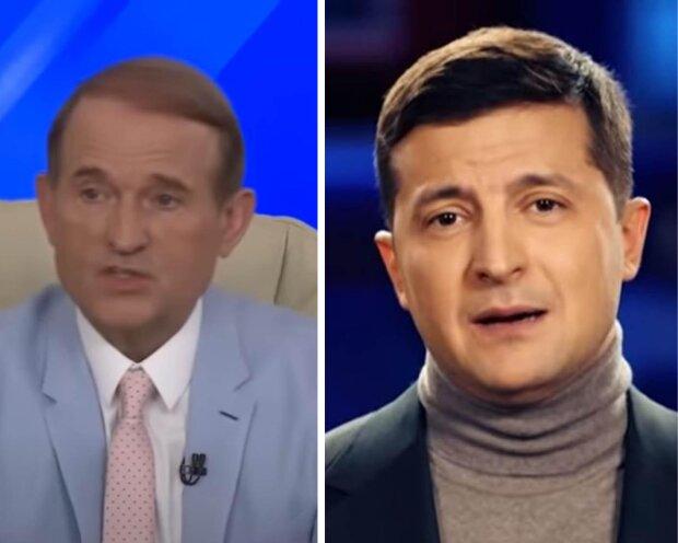 Віктор Медведчук та Володимир Зеленський