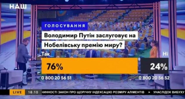 """опитування на телеканалі """"НАШ"""""""