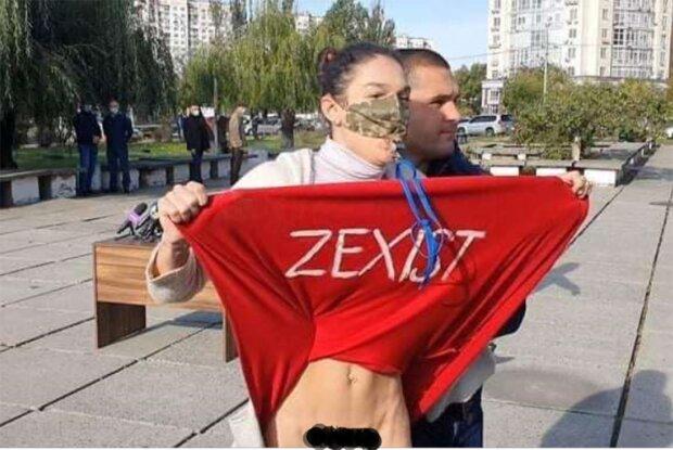 активістка Фемен напала на Зеленського